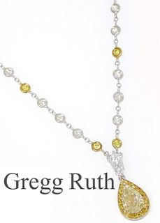Gregg Ruth Platinum & 18K Diamond Retail $30,000