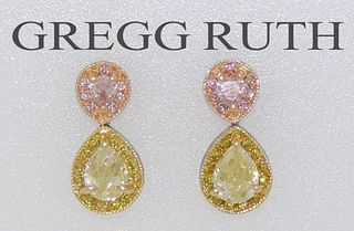 Gregg Ruth Pear Cut Yellow Diamond Retail $13,000