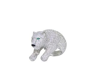Cartier Emerald And Diamond Ring Retail $118,000