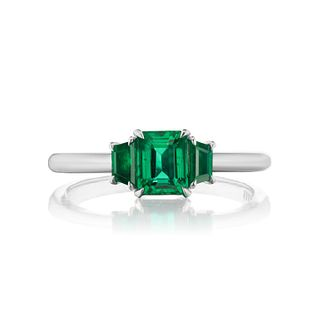 OCTAGON EMERALD RING