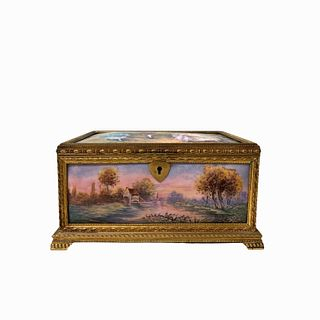 French Porcelain Casket Box