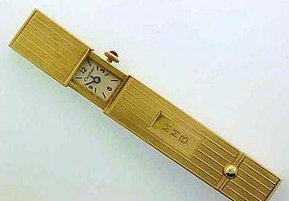 Very Rare 1940s Cartier 14k Yellow Gold Lipstick Holder