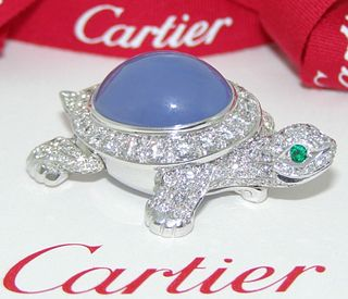 Cartier Diamond Chalcedony Turtle Retail $40,000
