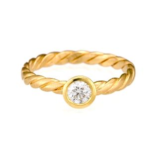 Diamond Stack Twist Ring