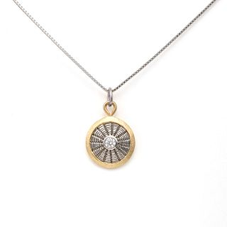 Diamond Sunburst Weave Necklace
