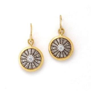 Sunburst Weave Drop Earrings