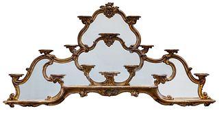 Italian Rococo Mirrored Wall Shelf