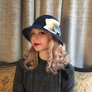 'Danielle' Cloche - Navy Blue