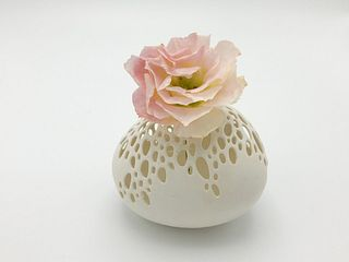 Small Pierced Bubble Vase