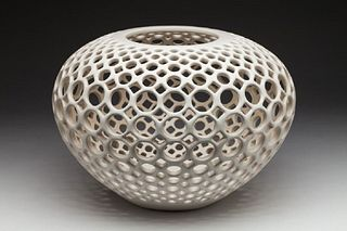 Large Lace Orb-White