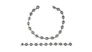 Georg Jensen Necklace #42B and Bracelet #45 Set
