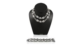 Vintage Georg Jensen Necklace #1 and Bracelet #3 Suite