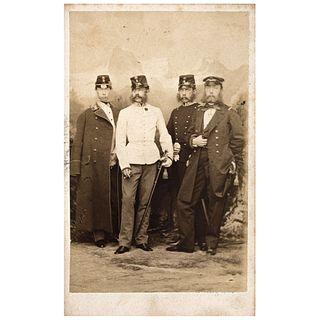 """LUDWIG ANGERER, Maximiliano de Habsburgo y sus hermanos, Unsigned Carte de visite, 4.1 x 2.3"""" USD $360-$450"""