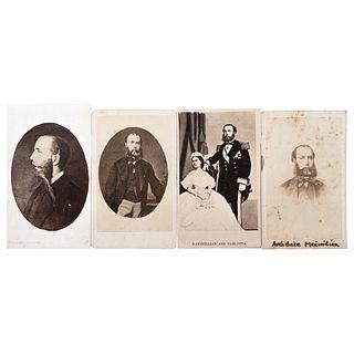 MARTIN DUHALDE, Maximiliano de Habsburgo, Unsigned Cartes de visite, Varying sizes USD $230-$450