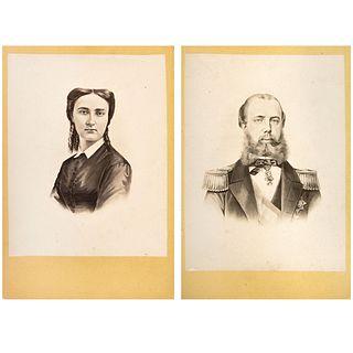 "A F. CZIHAK, Carlota y Maximiliano, Unsigned Cabinet, 6.2 x 4.3"" each USD $360-$540"