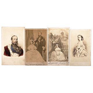NEURDEIN Y P. KAESER'S, Maximiliano de Habsburgo y Carlota de Bélgica, Unsigned Cartes de visite, Varying sizes USD $270-$450