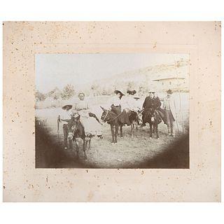 "UNIDENTIFIED PHOTOGRAPHER, Jornaleros afromexicanos, Veracruz, 1903, Unsigned Albumen on cardboard, 6.1 x 8"" image size 9.8 x 12"""