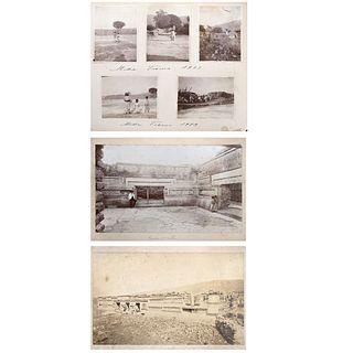 CHARLES B. WAITE, Tipos, Ruinas Arqueológicas, Edificios de Mitla, Unsigned Albumen on cardboard, Varying sizes USD $450-$680