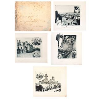 """D. S. SPAULDING, Photogravure souvenir, the City of Mexico and its environs, Unsigned Lithographies, 9.1 x 11.2"""" USD $410-$730"""