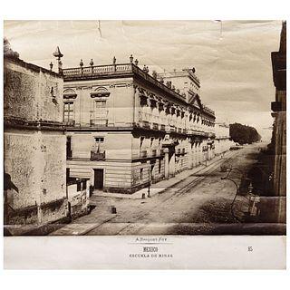 "ABEL BRIQUET, Escuela de Minas, México, Unsigned Albumen, 8.4 x 9.8"" USD $450-$680"