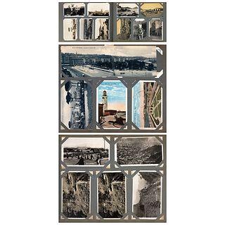HUGO BREHME, Álbum de postales de México: México, Cuernavaca, Mazatlán, Morelia, Tampico y Veracruz, Cuba y España, Unsigned Photos and