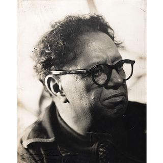 """JULIO BERESTEIN, Cabeza del Maestro Diego Rivera, Signed Vintage print, 13.7 x 11"""" USD $640-$910"""