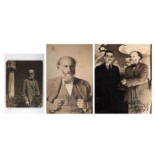 "UNIDENTIFIED PHOTOGRAPHER, Dr. Atl, Unsigned Vintage prints, 3.7 x 2.7, 6.4 x 4.1 y 5.5 x 4.3"" USD $540-$910"