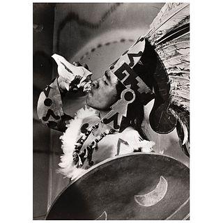 """HÉCTOR GARCÍA, Danzante de concheros, Unsigned Vintage print, 5.1 x 6.9"""" USD $360-$540"""