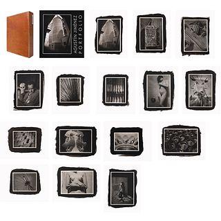AGUSTÍN JIMÉNEZ, Agustín Jiménez photographs, Colophon signature by María Jiménez Platinum prints 8 / 20, Varying sizes 14 x 11 size of