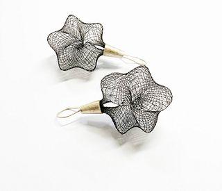Penta Earrings in Black and White
