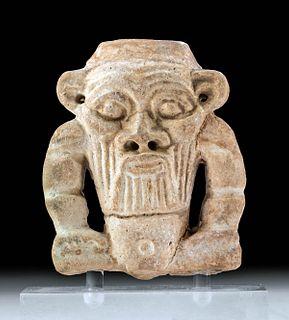 Egyptian Janiform Faience Bes Amulet