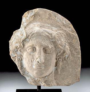 Greek Terracotta Antefix of Goddess Io