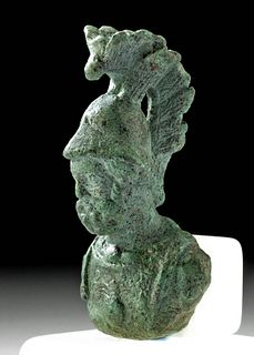 Roman Leaded  Bronze Bust of a Soldier / Mars (Ares)