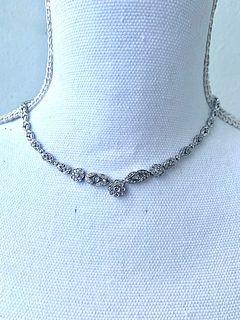 DAMIANI Diamond Floral Necklace 18k