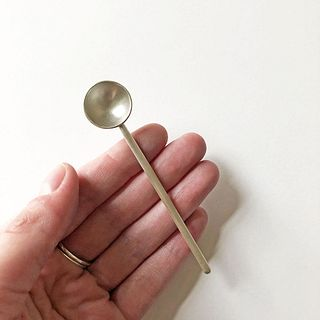 Single Small Spoon Medium Long Rod Handle