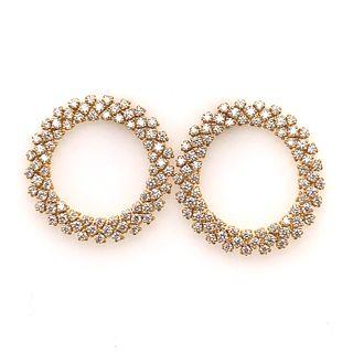 18k Diamond Doughnut EarringsÊ