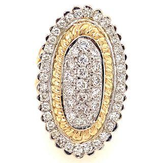 18k Gold Diamond RingÊ