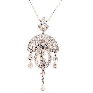 1920Õ Platinum Diamond Pendant & ChainÊ