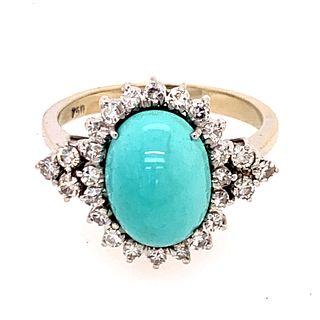 18K Turquoise Diamond RingÊ