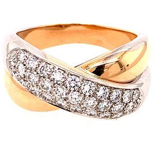 18k Cross Band Diamond RingÊ