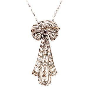 1920Õ Platinum Diamond PendantÊ