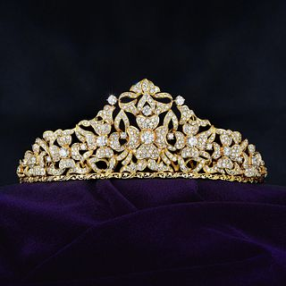 Diamond Flower Tiara