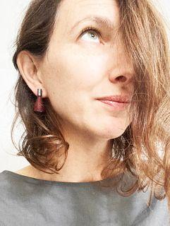 Spark Earrings Burgundy