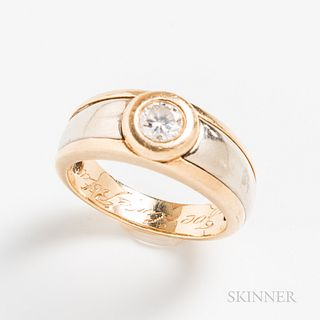Gentleman's 14kt Gold and Diamond Ring