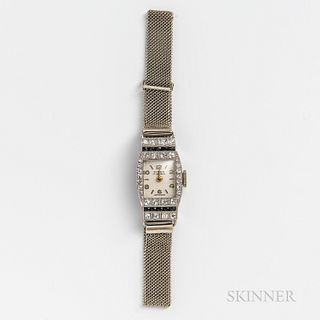 Tirza Platinum, Diamond, and Sapphire Lady's Wristwatch