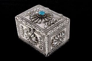 Navajo Randy Begay Jr. Sterling Box MAGNIFICIENT