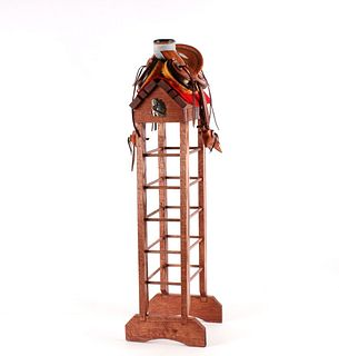 Custom Lambert Leather Miniature Roping Saddle