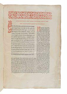 ARISTOTLE (384-322 B.C.). De Animalium generatione libri quinque cum Philiponi Commentariis. Venice: Joannes Antonius and Fratres de Sabio, February