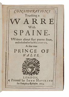 BACON, Francis, Sir (1561-1626). Certaine Miscellany Works. London: John Haviland for Humphrey Robinson, 1629.