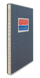 HOCKNEY, David (b.1937). Hockney's Alphabet. Stephen Spender, editor. London: Faber & Faber, 1991.